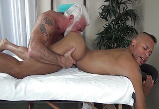 Aged kinky pornographic star Jake Marshall in act and romping a pile