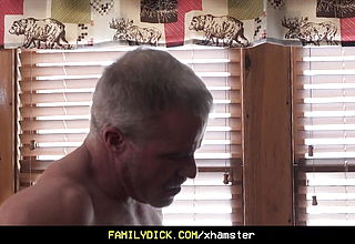 FamilyDick- Step dad And Step Grandfather Spitroast A Horny Twink