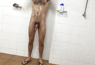 Semi in the gym showers
