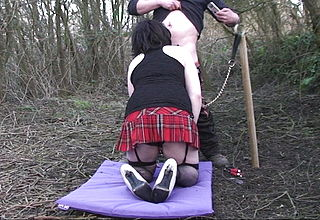 Sissy sub gurl gets urinated on and facefucked