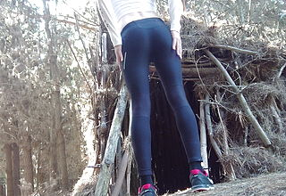 Yoga Pants Unclothe in the Woods