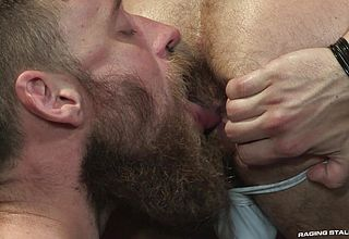 Hairy gay fucks his boyfriends asshole beards, bulges and ballsacks!