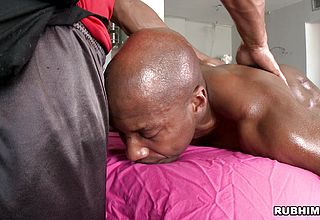 Greased dark hued stud providing blowage while being touched