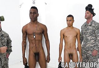 Ultra kinky military man wants a hefty stiffy up his taut donk