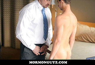 Youthfull Latino Youngster Mormon Fellow Humped By Otter Daddy
