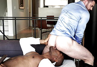 Billy Santoro Rides Lawrence Portland039;s Thick Ebony Hard on