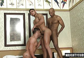 Mexican homo threeway with facial cumshot