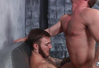 Christian and joey pulverize each other rigid with an powerful ejaculation