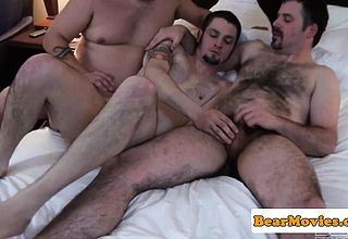 Cocksucked chub assfucking hunk in 3