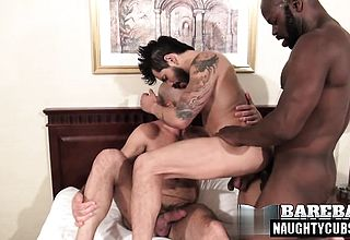 Latin fag three way and cum shot