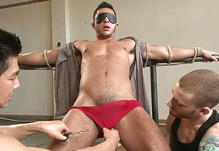 Strapped gobbled and taunted