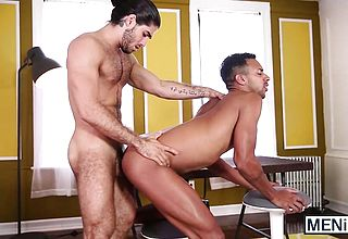 Diego Sans enjoys the taste of Jay Alexanders appetizing ass