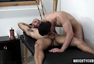 Big man meat jock roll flop with rubdown