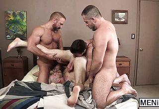 Super cute youthful fellows and old grizzlies have a ultra kinky tear up session