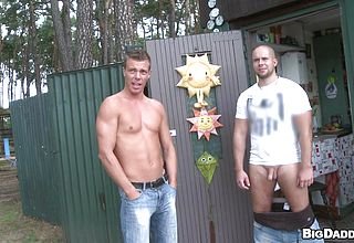 Mischievous stud deepthroating his playmates shaft and pummeling him