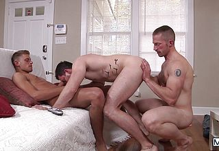 Mischievous studs making out
